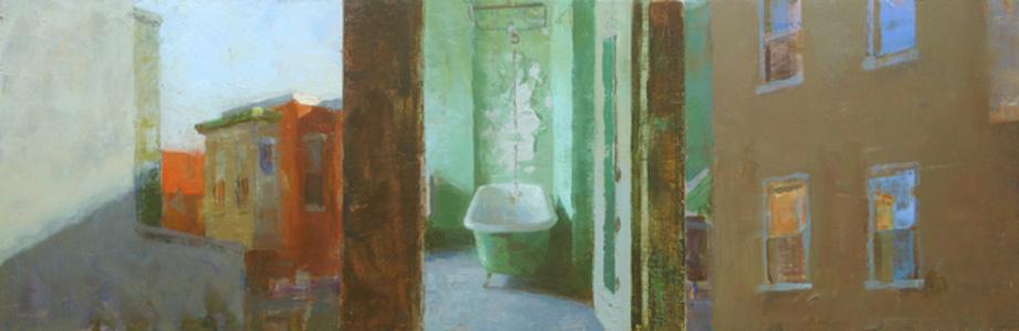 Triptych with Bathtub