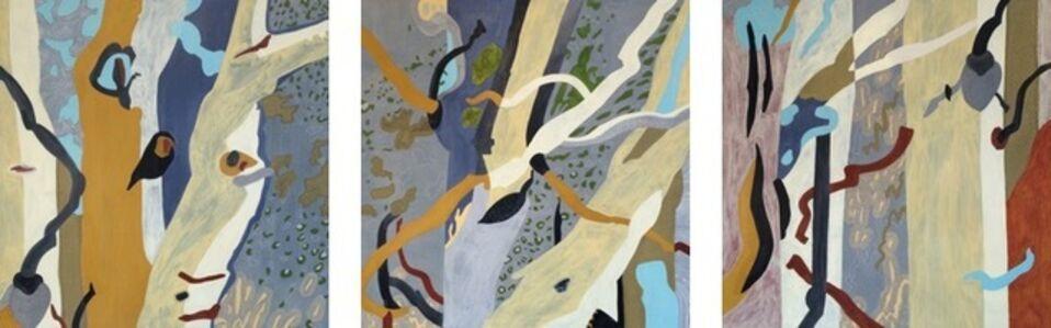 Sunlit Tree Triptych