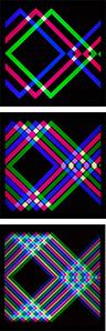 Perimetro quadrato col A, B, C (Triptych)