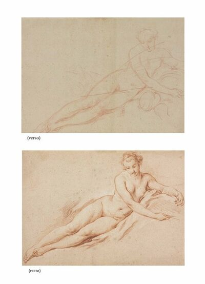 François Boucher, 'A reclining female nude (recto and verso)'