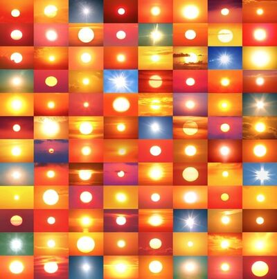 Penelope Umbrico, '31,888,928 Suns from Sunsets from Flickr (Partial) 10/24/16', 2016