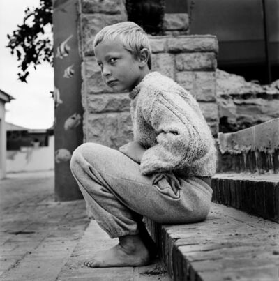Katharine Cooper, 'Richard Schoeman, 8 Years Old, on the Steps at Jeffreysbaai, South Africa - White Africans', 2013