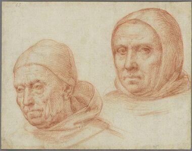 Baccio della Porta, called Fra Bartolommeo, 'Heads of Two Dominican Friars', ca. 1511