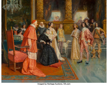 Antonio Zoppi, 'Meeting of William II of Orange and Mary Stuart, Princess Royal with Marie de Medici'