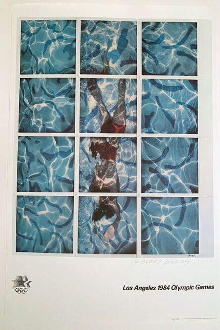 David Hockney, '1984 LA Olympics Signed Poster David Hockney', 1984