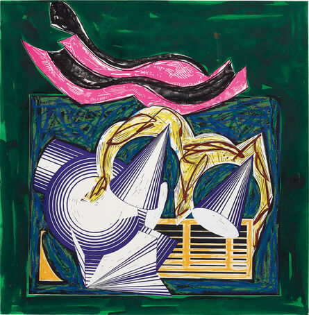 Frank Stella, 'One Small Goat Papa Bought for Two Zuzim, pl.1, from Illustrations after El Lissitzky's Had Gadya', 1984