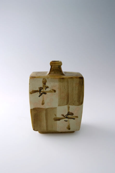 Shōji Hamada, 'Squared bottle, tetsue brushwork', 1965