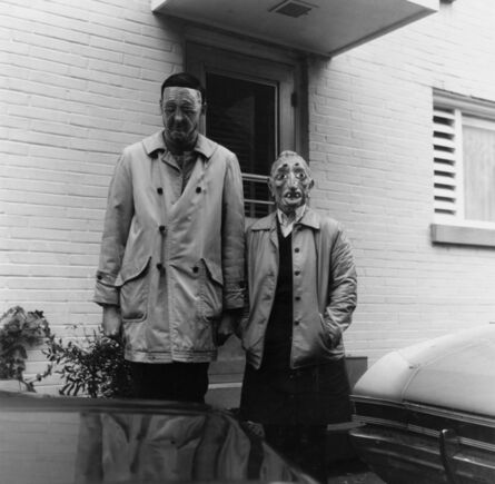Ralph Eugene Meatyard, 'Lucybelle Crater and 46 year old husband's tall photo friend Lucybelle Crater'