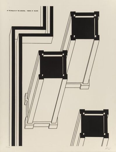 Robert Morris (b. 1931), 'Security Walls, from the Realm of the Carceral', 1979