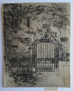 Theodore Roussel, 'The Gate, Chelsea', 1889