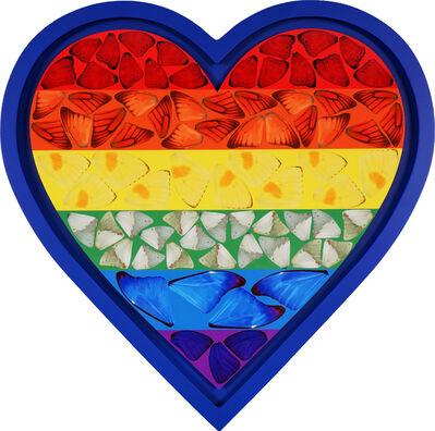 Damien Hirst, ' Rainbow Butterfly Heart', 2020