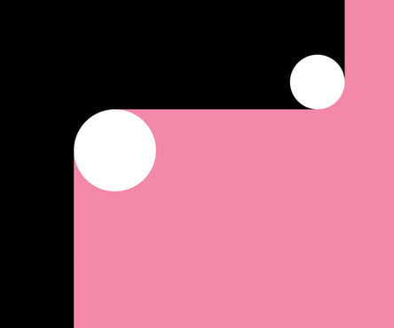 Gary Andrew Clarke, 'Pink Curves & Circles', 2020