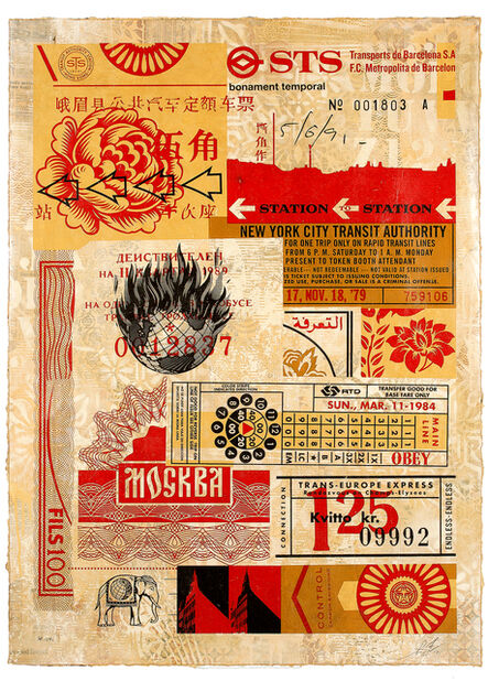 Shepard Fairey, 'Station to Station 2', 2012