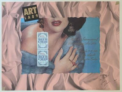 Alexis Smith, 'Blue Chip (Original Signed Lithographic Poster)', 1989