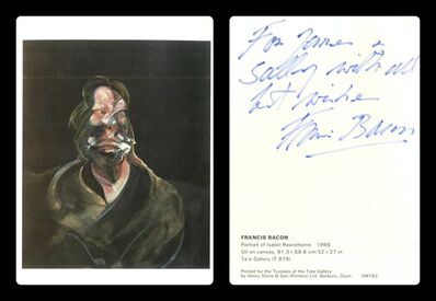 Francis Bacon, 'Portrait of Isabel Rawsthorne (Signed and Inscribed)', ca. 1966