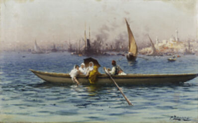 Fausto Zonaro, 'Amusement on the Caique', Late 19th Century -Early 20th Century