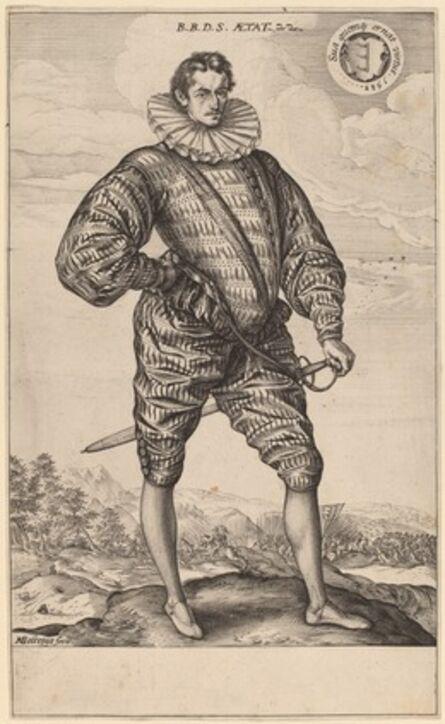 Hendrik Goltzius, 'Polish Nobleman Standing (Balthasar Bathory de Somlyo at Age 22)', 1583