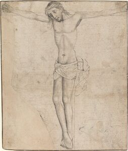 Master of the Coburg Roundels, 'Christ on the Cross [recto]', ca. 1490