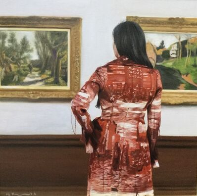 Gerard Burns, 'Woman in an Art Gallery', 2019