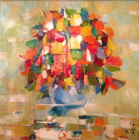 Zhang Shengzan 张胜赞, 'Dance of petals', 2012