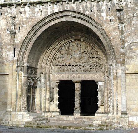 'Priory Church of Saint-Pierre: South portal', ca. 1115