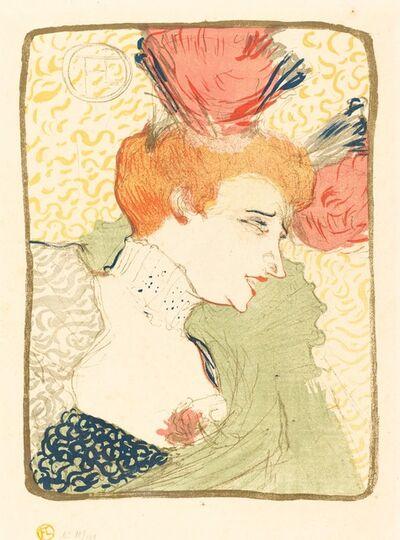 Henri de Toulouse-Lautrec, 'Bust of Mlle. Marcelle Lender  (Mlle. Marcelle Lender, en buste)', 1895