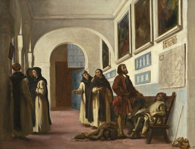 Eugène Delacroix, 'Christopher Columbus and His Son at La Rábida', 1838