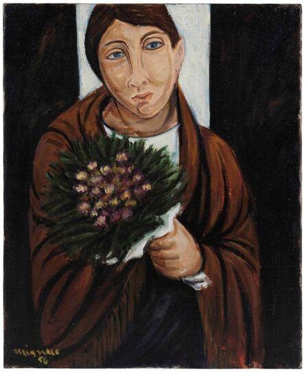 Giuseppe Migneco, 'La fioraia', 1956