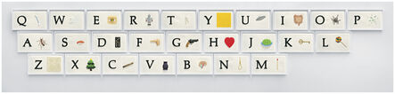 John Baldessari, 'A B C Art (Low Relief): A/Ant, Etc. (Keyboard)', 2009