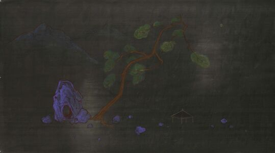 Zheng Zaidong, 'Enjoy the Moon in the Pavilion丨寒亭赏月', 2014