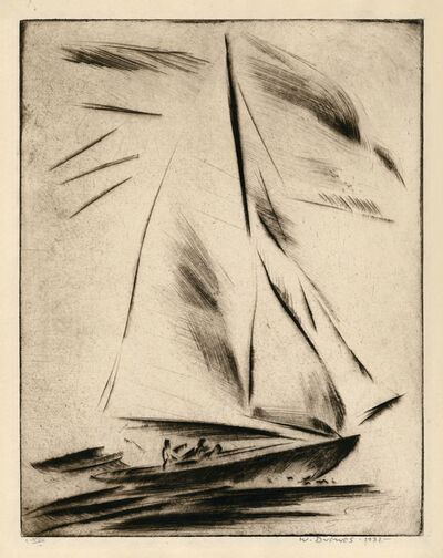 Werner Drewes, 'New Rochelle - Before the Wind', 1931