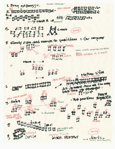 Joan Jonas, 'Score, Document of 2012 reconstruction of Mirror Piece I (1969)', 2019