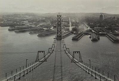 Peter Stackpole, 'Construction of the San Francisco - Oakland Bay Bridge'