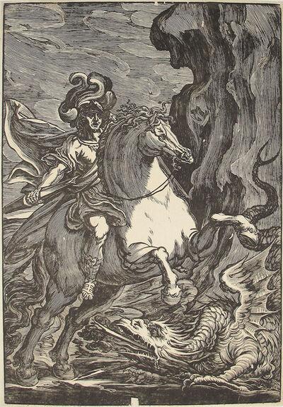 Giuseppe Scolari, 'Saint George and the Dragon (2nd State)', ca. 1600