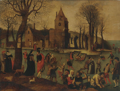 Circle of Pieter Brueghel II, 'Merry-making on the ice', 1595