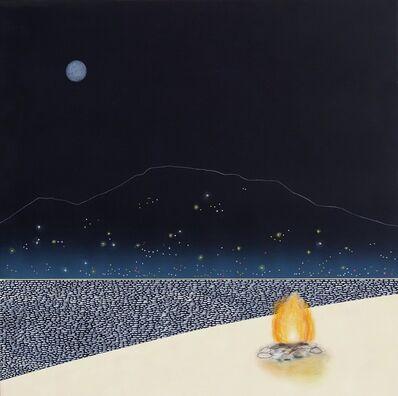 Mike Gough, 'Beach Fire At The Lake', 2019