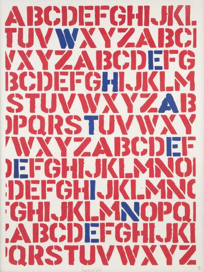 Ben Eine, 'WE HATE EINE (RED AND BLUE)', 2004