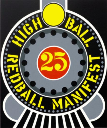 Robert Indiana, 'The American Dream (High Ball Redball Manifest)', 1997