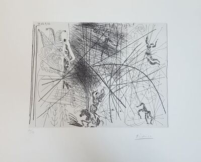 Pablo Picasso, 'Vieux Bouffon Contemplant des Acrobates I', 1968