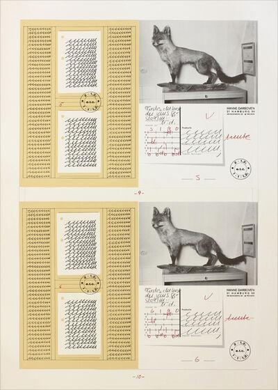 Hanne Darboven, 'Fuchs du hast die Gans gestohlen', 1990