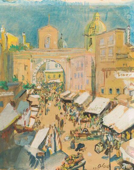Oskar Laske, 'Porta Capuana in Naples', 1921