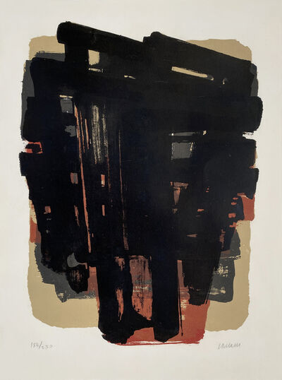 Pierre Soulages, 'Lithographie n° 8', 1958