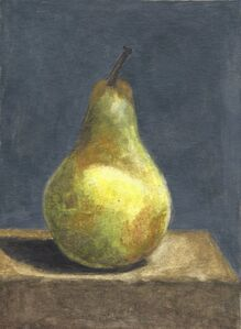 Robert Kulicke, 'Pear on Grey Background', ca. 1965