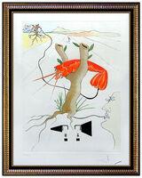 Salvador Dalí, 'Salvador Dali Color Etching Hand Signed Lobster Telephone Da Vinci Artwork Rare', 1975