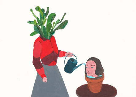 Stasele Jakunskaite, 'Flowering a plant', 2017