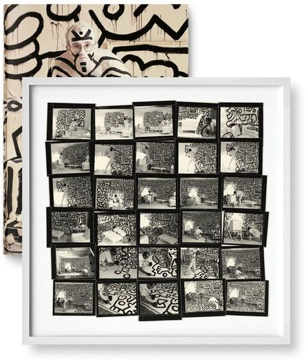 Annie Leibovitz, 'Annie Leibovitz, Keith Haring (contact sheet), New York City, 1986, Black and White Print', 2014