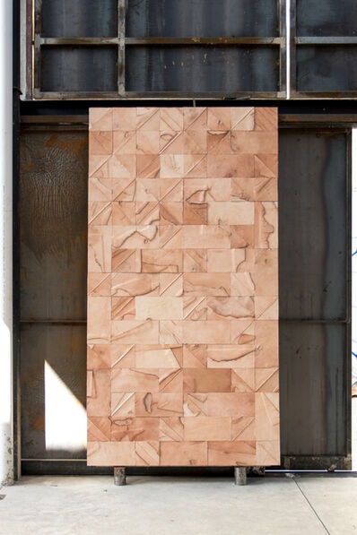 Peter Glassford, 'Leather collage tile '