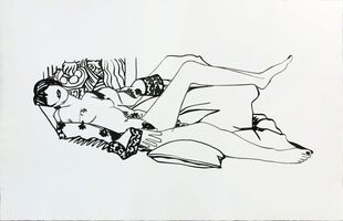 Tom Wesselmann, 'Monica Nude with Purple Robe', 1990