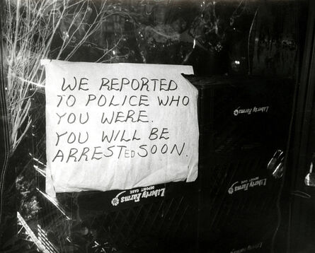 Andy Warhol, 'Andy Warhol, Photograph of a Funny Sign (We Reported You to the Police...), 1981', 1981