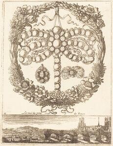 François Le Febvre, 'La veue du pont de Rouen', probably 1665
